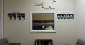 Our Waiting Room - complete with free lending library